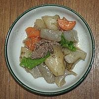 1. 菊芋の肉じゃが風煮物